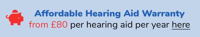 Hearing Aid Warranty £80 per year per aid