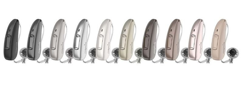 Signia Pure Charge & Go AX hearing aid colours